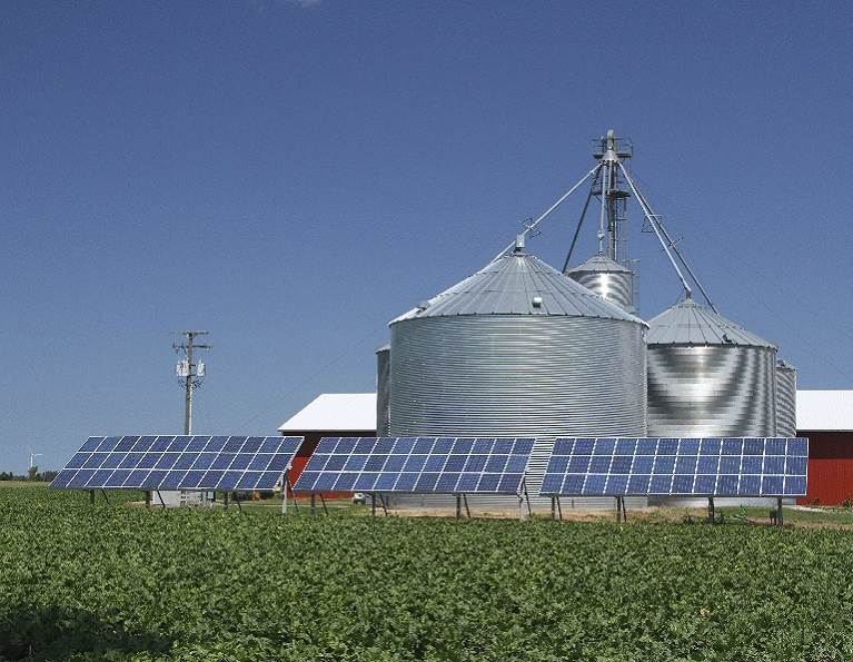 Farm powered by solar panels produced with rail bonding adhesives from H.B. Fuller.